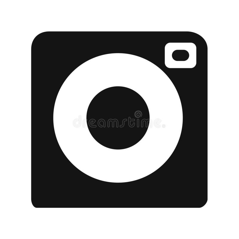 Camera Icon in trendy flat style isolated on white background. Camera symbol for your web site design, logo, app, UI. royalty free illustration