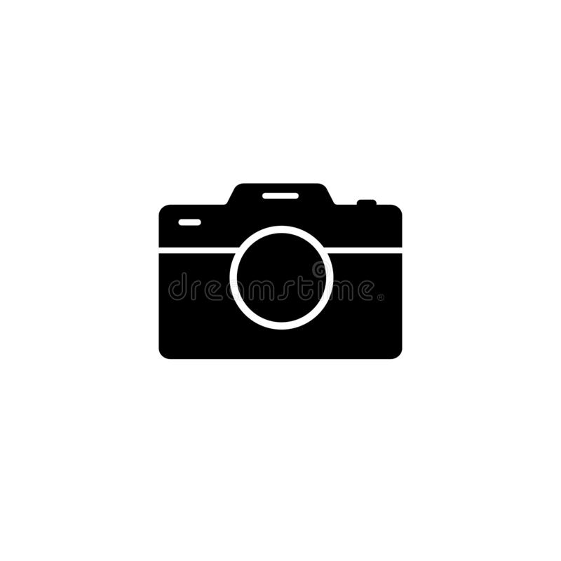 Camera Icon in trendy flat style isolated on white background stock illustration