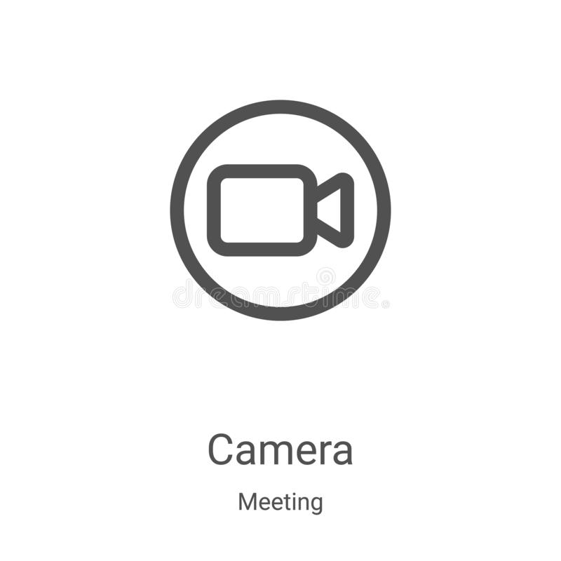 Free Camera Icon Vector From Meeting Collection. Thin Line Camera Outline Icon Vector Illustration. Linear Symbol For Use On Web And Royalty Free Stock Images - 166044049