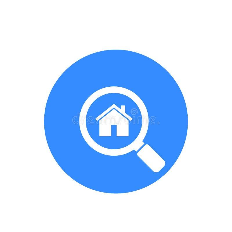 Camera, icona di vettore di ricerca dell'appartamento royalty illustrazione gratis