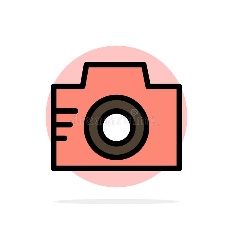 Camera, Image, Photo, Picture Abstract Circle Background Flat color Icon royalty free illustration