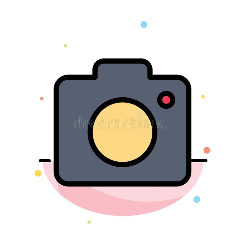 Camera, Image, Photo, Picture Abstract Flat Color Icon Template stock illustration