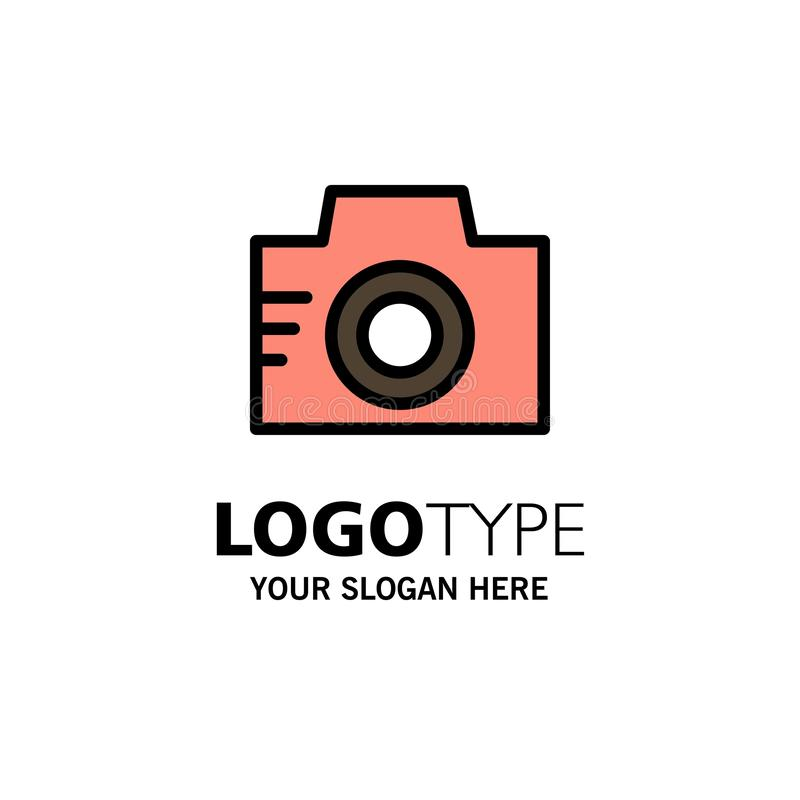 Camera, Image, Photo, Picture Business Logo Template. Flat Color vector illustration