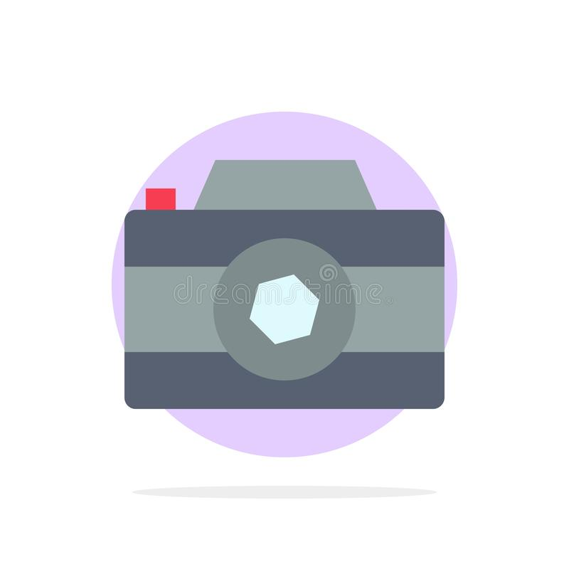 Camera, Image, Picture, Photo Abstract Circle Background Flat color Icon royalty free illustration