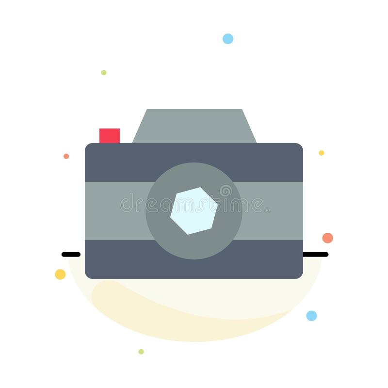 Camera, Image, Picture, Photo Abstract Flat Color Icon Template royalty free illustration