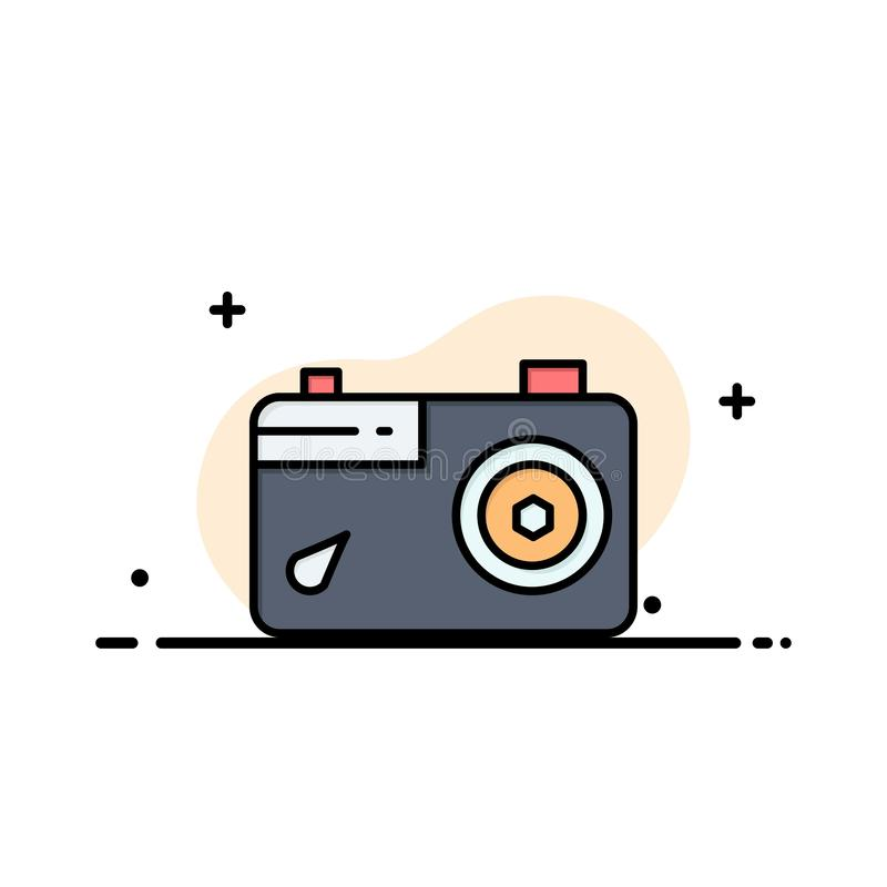 Camera, Image, Picture, Photo Business Logo Template. Flat Color vector illustration