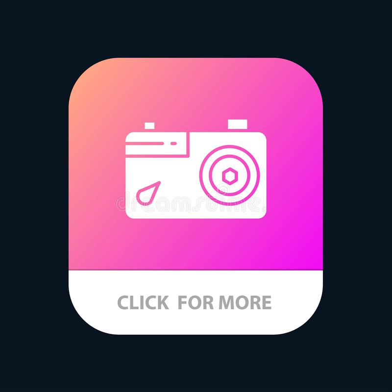 Camera, Image, Picture, Photo Mobile App Icon Design vector illustration