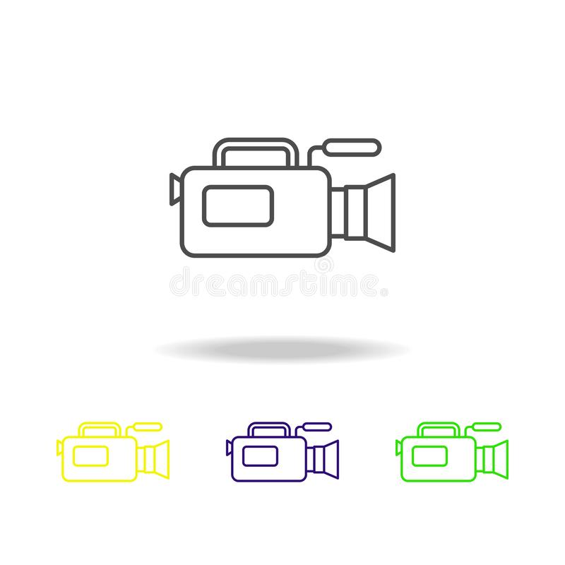 camera of journalism multicolored icons. Element of journalism for mobile concept and web apps illustration. Can be used for web, vector illustration