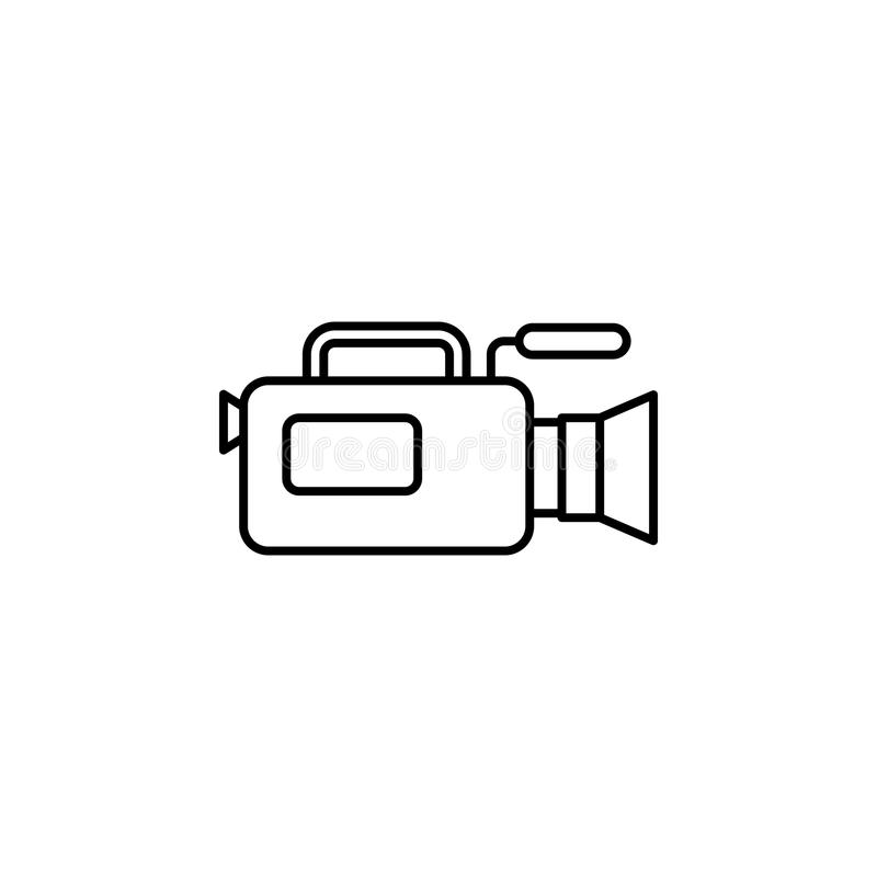 Camera of journalist icon. Element of journalist for mobile concept and web apps illustration. Illustration for website royalty free illustration