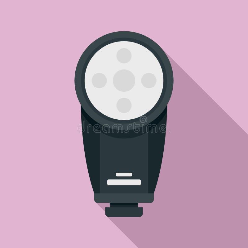 Camera led flash icon, flat style stock illustration