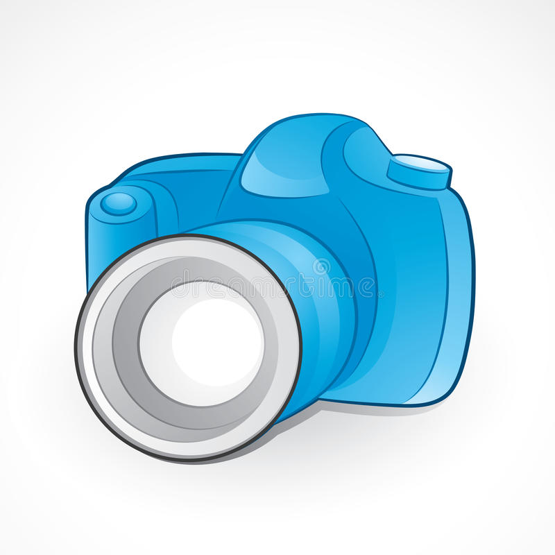 Camera And Lens Royalty Free Stock Photography