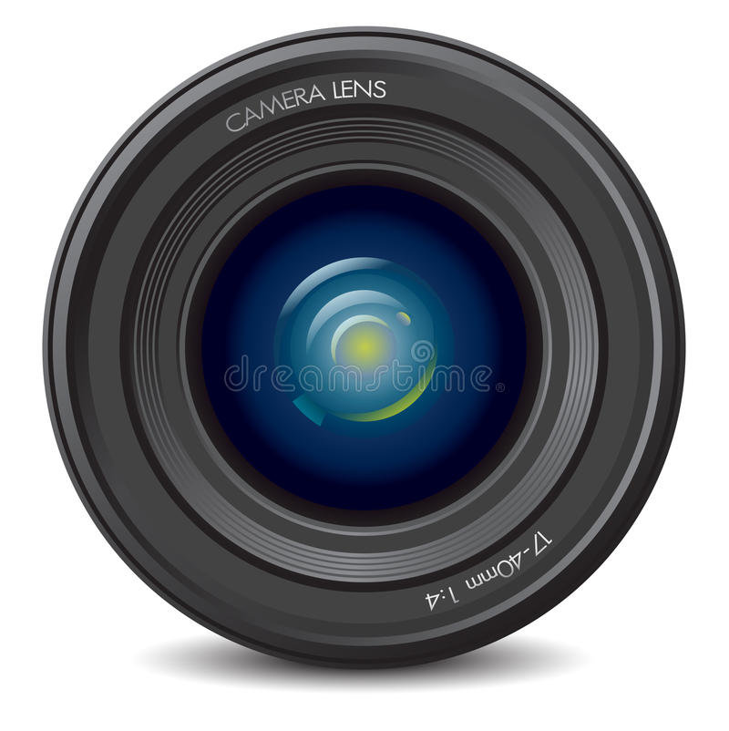 Download Camera lens stock illustration. Image of professional - 15730860