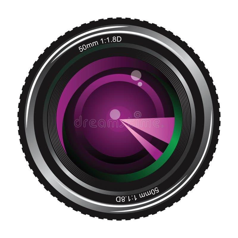 Download Camera lens stock vector. Image of front, camera, symbol - 18006738