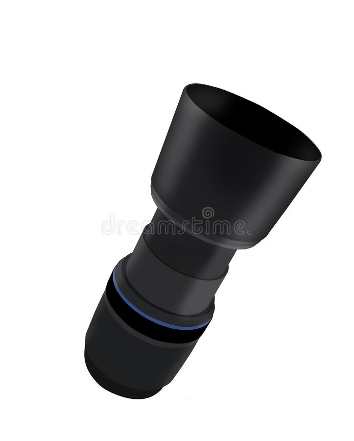 Camera lens. Vector Camera lens isolated on white background royalty free illustration