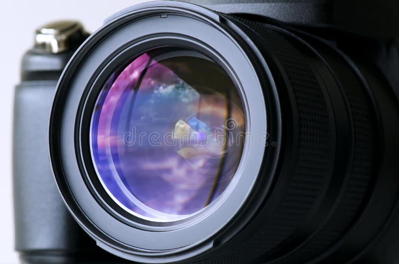 Download Camera Lens stock image. Image of color, reflection, focal - 20646827