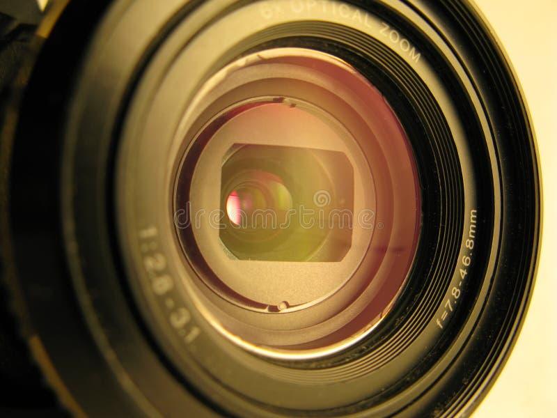 Camera lens. Macro shot of camera lens royalty free stock image