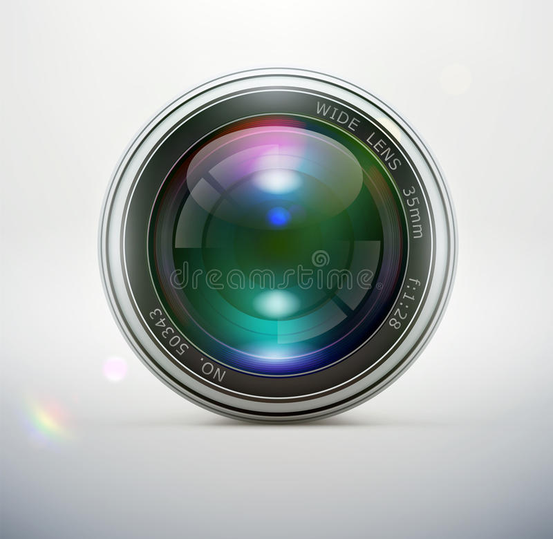 Download Camera lens stock vector. Image of industry, glass, equipment - 28058501