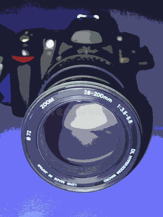 Download Camera lens stock illustration. Image of artistic, gray - 2921164