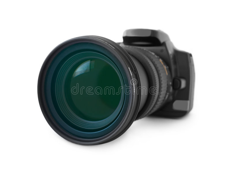 Camera and lens stock photos