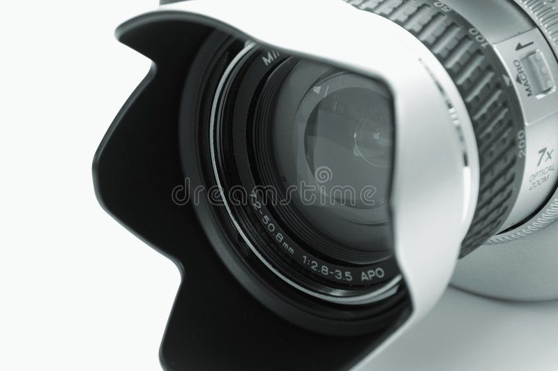 Download Camera lens stock photo. Image of glass, mini, video, isolated - 515032