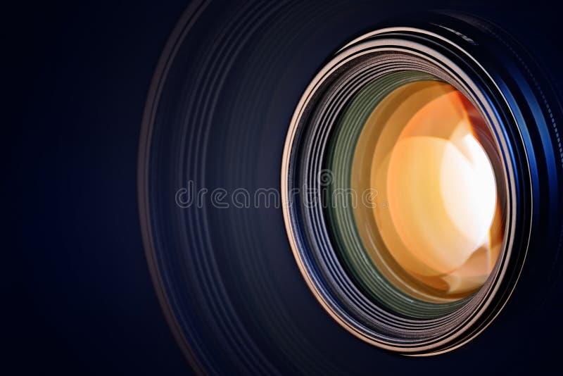 Camera Lens Background Stock Photo. Image Of Orange, Lens