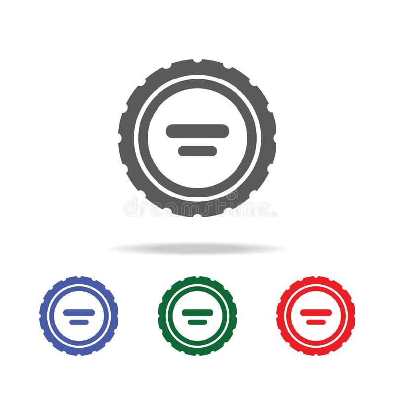 Camera Lens Cap icon. Elements of photo camera in multi colored icons. Premium quality graphic design icon. Simple icon for websit. Es, web design, mobile app stock photo
