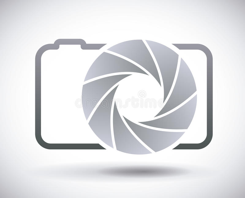 Camera lens. Design, illustration eps10 graphic stock illustration