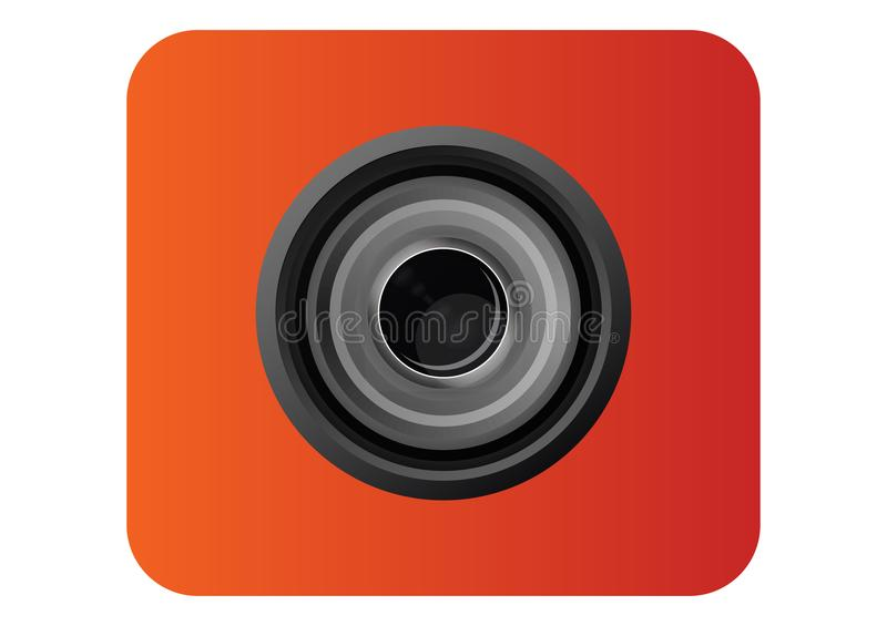 Camera Lens Icon for template royalty free stock image
