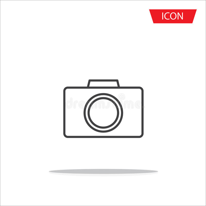 Camera lens icon vector isolated on white background. stock illustration