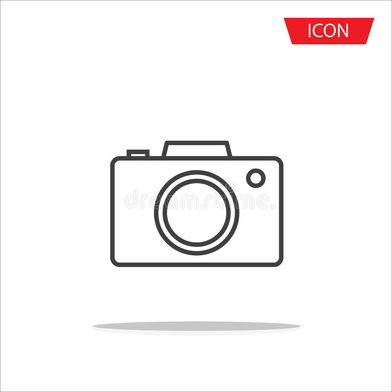 Camera lens icon vector isolated on white background. royalty free illustration