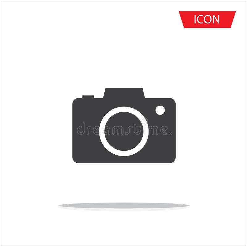 Camera lens icon vector isolated on white background. vector illustration
