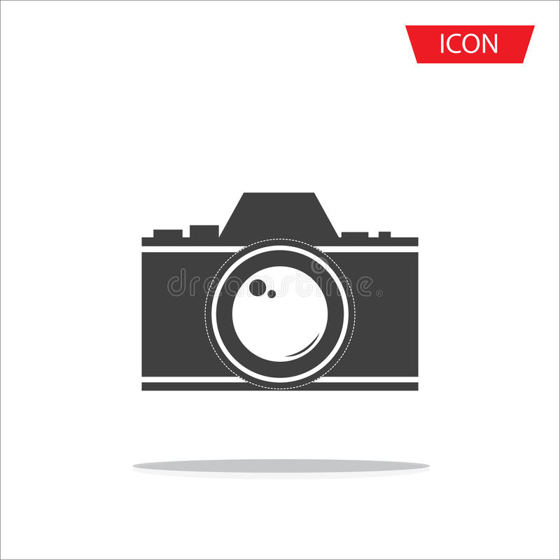 Camera lens icon photography symbols vector illustration
