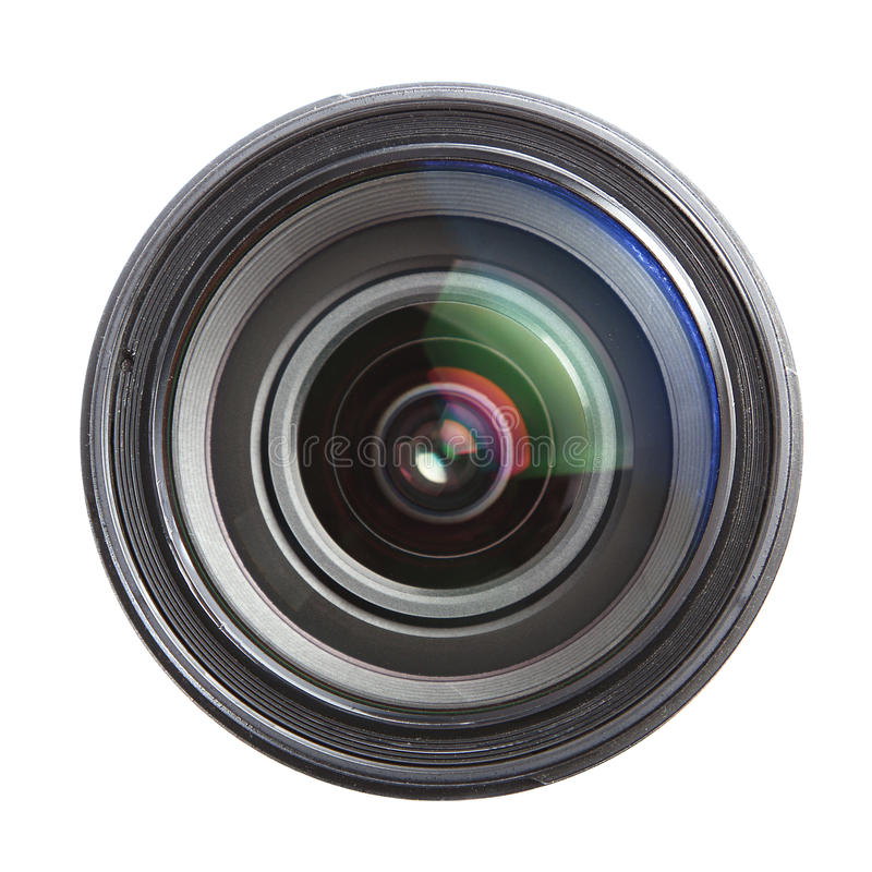 Download Camera Lens Isolated Over White Stock Image - Image: 29397835