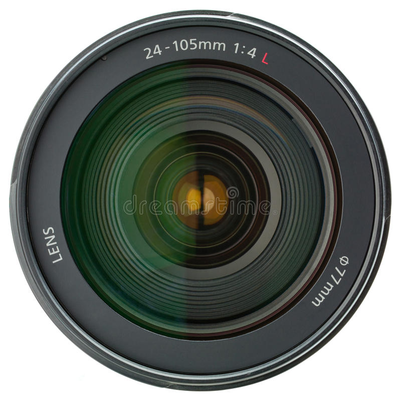 Download Camera Lens Isolated On White Stock Image - Image: 12110391