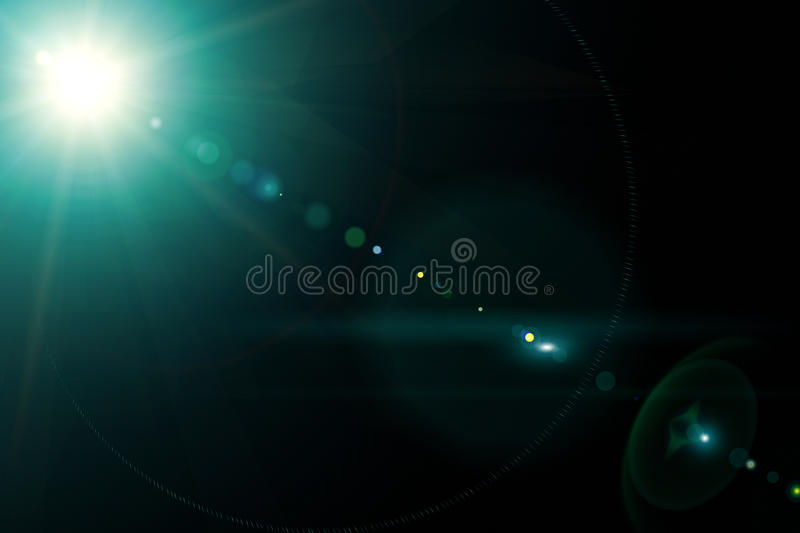 Camera lens with lense reflections. royalty free stock image