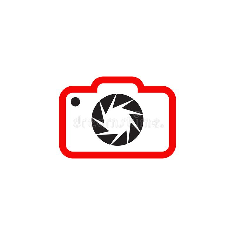 Camera lens logo icon design template vector illustration