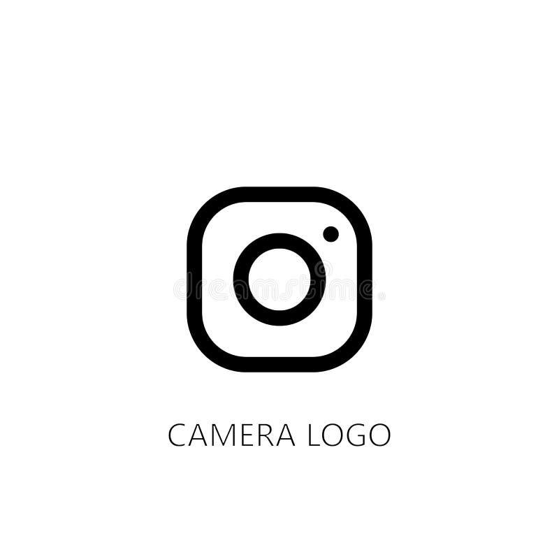 camera lens logo. vector symbol on white background royalty free illustration