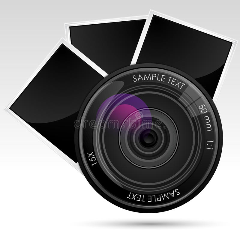 Download Camera Lens With Photograph Stock Vector - Image: 18582110