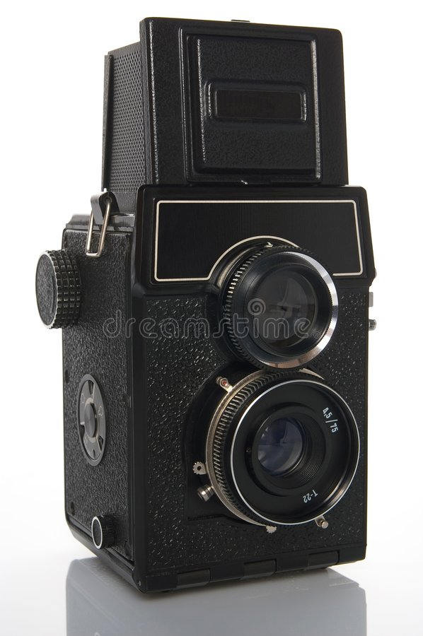 camera lens reflex twin στοκ εικόνα με δικαίωμα ελεύθερης χρήσης