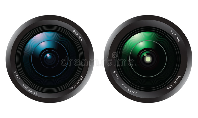 Camera lens set stock illustration