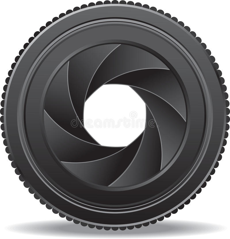 Camera lens shutter vector illustration