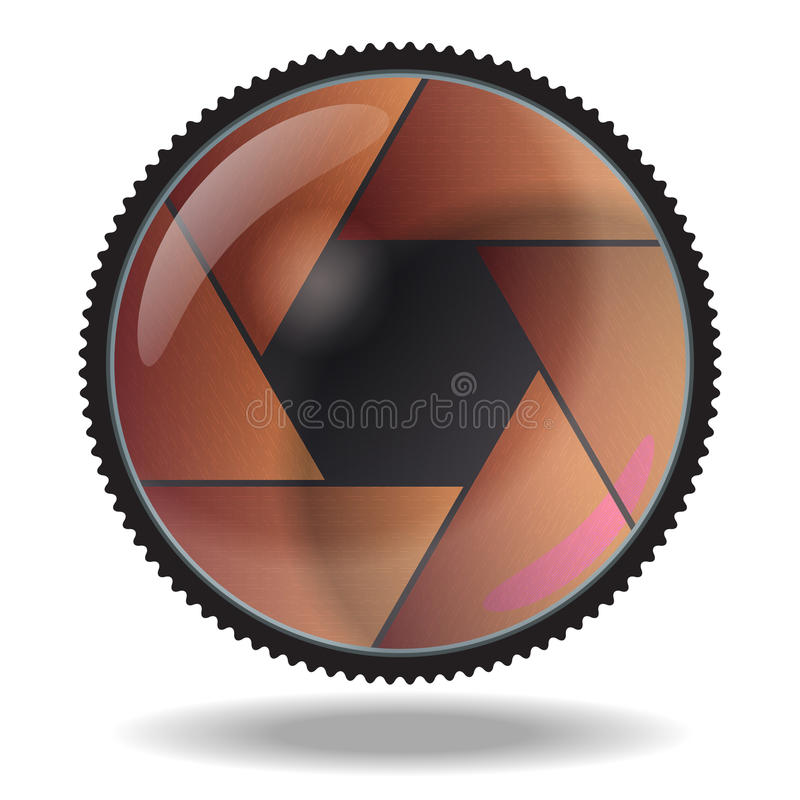 Download Camera Lens. White Background Stock Vector - Illustration of icon, photographic: 33657272