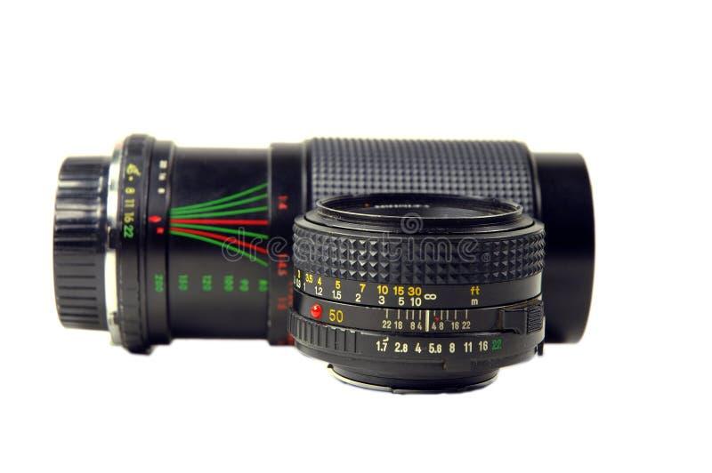 Camera lenses stock image
