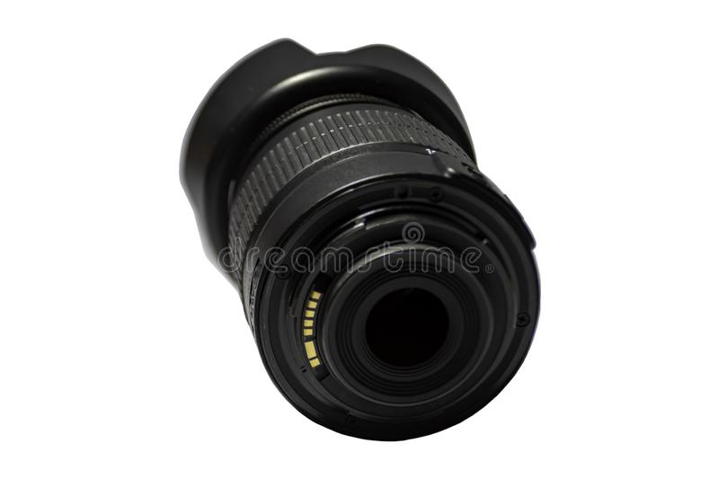Camera lenses ADSL on a white background. Thailand stock images