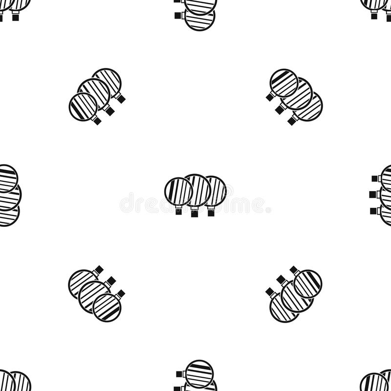 Camera lenses pattern seamless black. Camera lenses pattern repeat seamless in black color for any design. Vector geometric illustration stock illustration