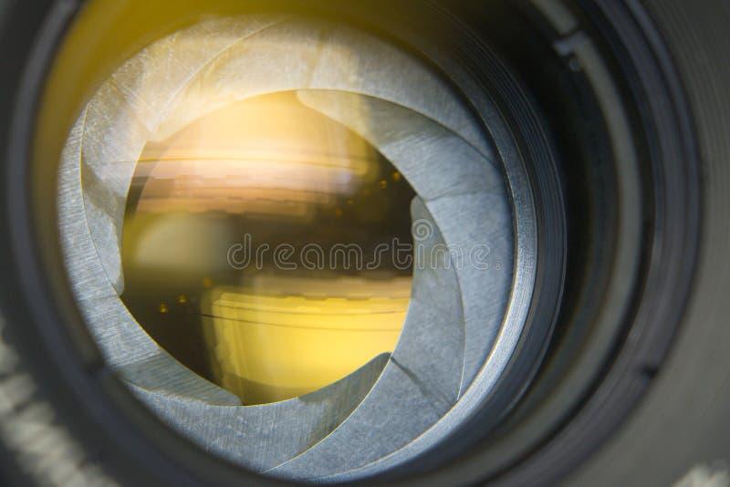 Camera lenses retro. Style closeup macro photo royalty free stock images