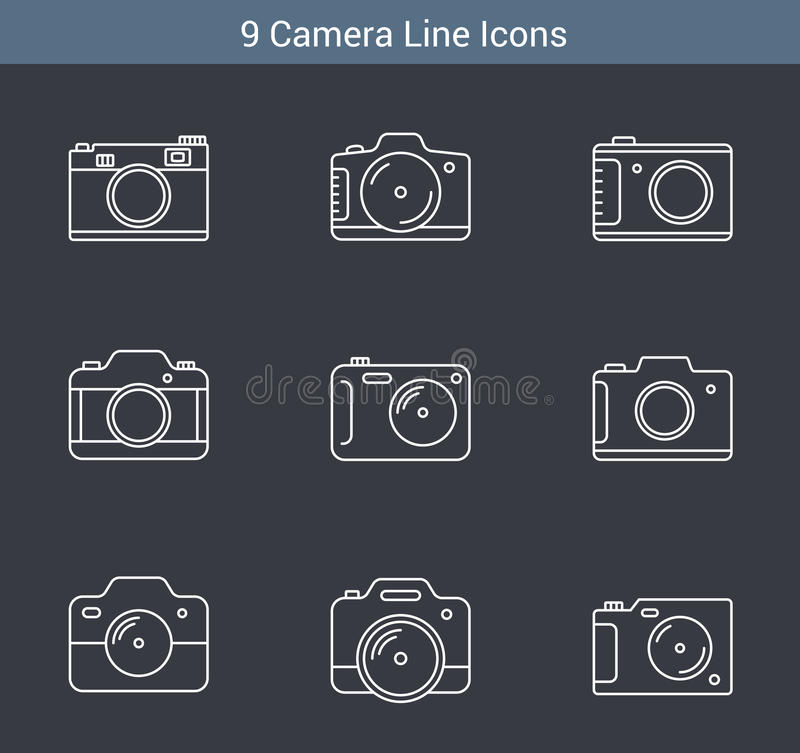 Camera Line Icons vector illustration