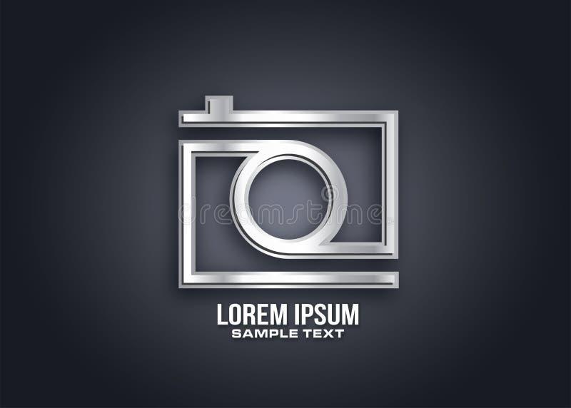 Camera logo dessign vector stock illustration