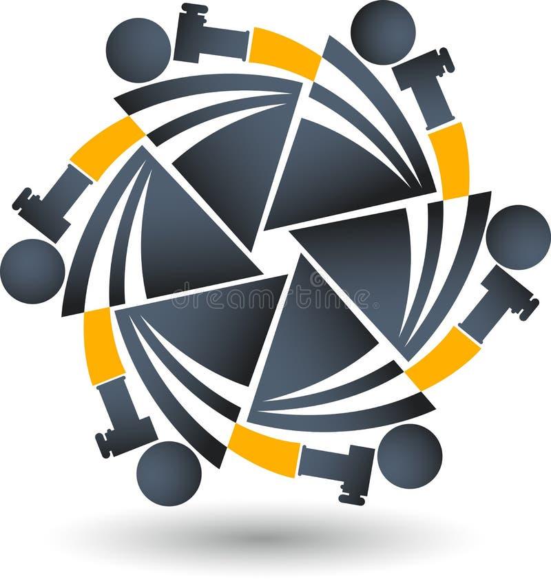 Camera logo vector illustration
