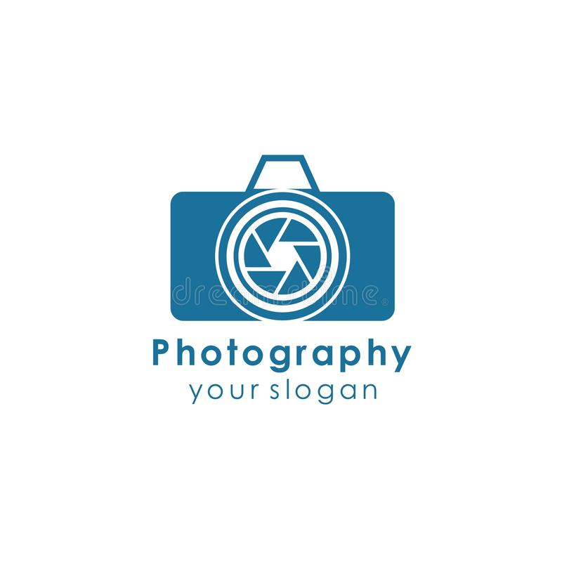 Camera logo template design vector icon illustration. Photography, photographer, lens, focus, symbol, digital, modern, technology, studio, equipment, film royalty free illustration